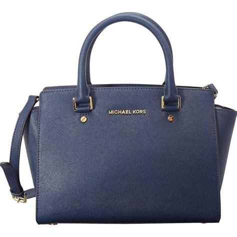Tas Michael Kors Selma Medium Navy michael kors selma medium navy satchel handbag free shipping today overstock 17869609