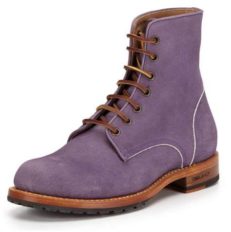 mens purple suede boots dsquared2 purple suede lace up boots mensfash