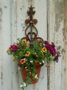 Wall Plant Holders by Wall Mounted Plant Holder Steel Pot Ring By Inspiredgardens