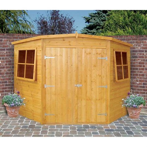 garden wooden shed workshop corner shed  xmm