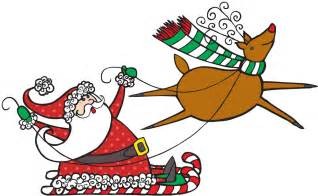 santa reindeer images clipart