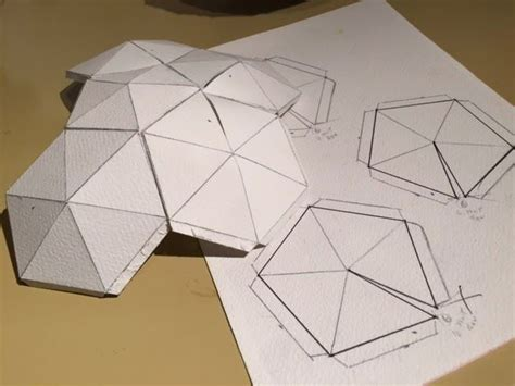 Geodesic Dome Template by Paper Geodesic Dome Search 공작 Craft