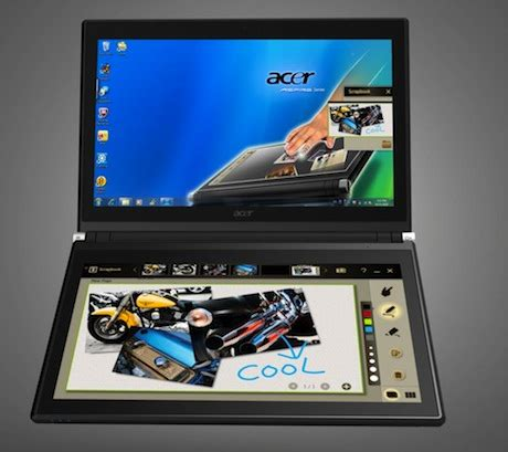acer iconia 6120 touchbook dual screen tablet revealed | zdnet