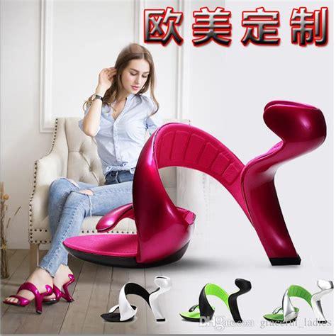 Sale Sendal High Heels T14 Black novelty sandals without bottom high heels summer