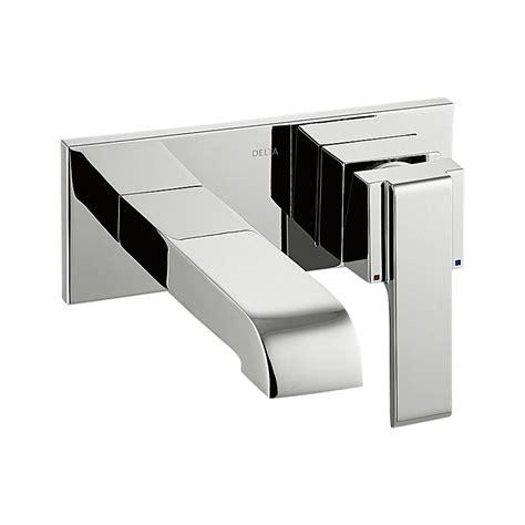 delta wall mount kitchen faucet t31260 wl delta single handle wall mount lavatory faucet