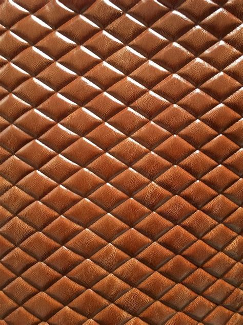 Quilted Vinyl Fabric by Vinyl Faux Leather Saddle Distressed Quilted Fabric W 3 8 Quot Foam Back Ebay