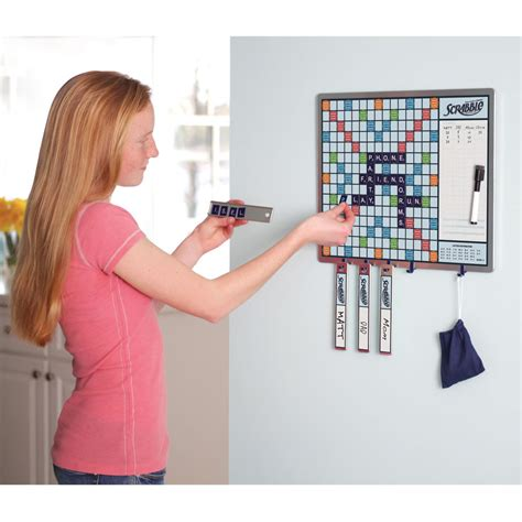 walk by scrabble board the walk by scrabble board hammacher schlemmer