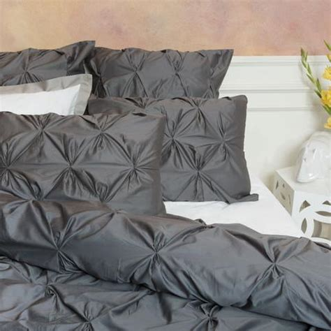 dark gray bedding dark gray pintuck duvet cover by crane canopy