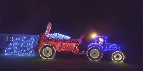 video over 3 500 lights used to create christmas farming