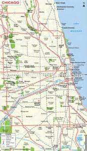 Map Of Chicago Il by Chicago Illinois Map