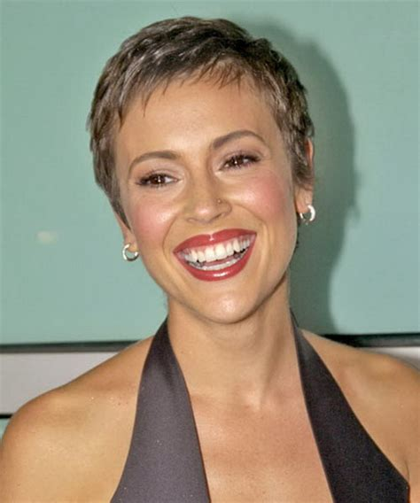 short hairstyles after chemo alyssa milano pixie haircut
