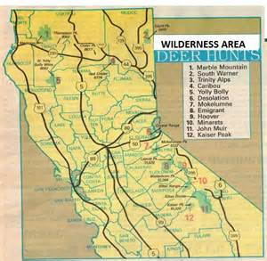 2017 high deer maps and california