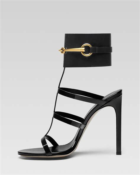 gucci ursula cage high heel sandal in black lyst