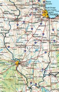 us map illinois illinois reference map