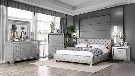 juilliard upholstered bedroom set silver  furniture  america furniturepick