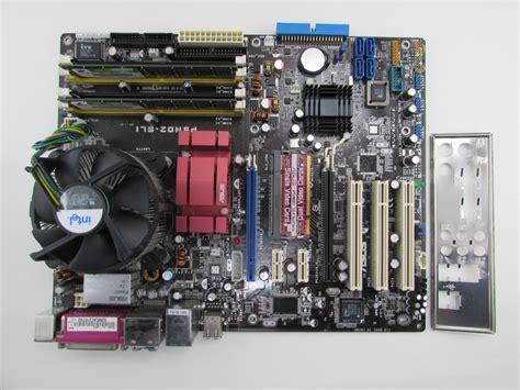 Ram Cpu Pentium 4 asus p5nd2 sli rev 1 03 motherboard pentium 4 3 4ghz cpu
