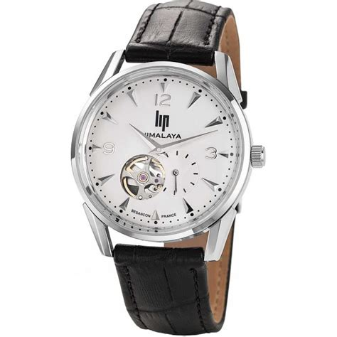 montre lip himalaya 1954 671251 montre ronde cuir homme sur bijourama montre homme pas cher