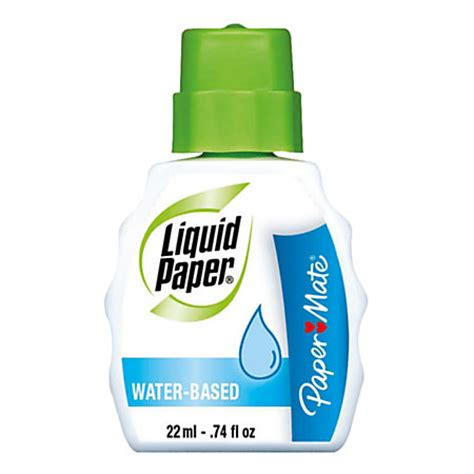 How To Make Liquid Paper - paper mate liquid paper water based correction fluid pack