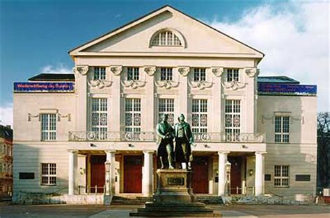wann lebte goethe nationaltheater weimar fotogalerie foto 1