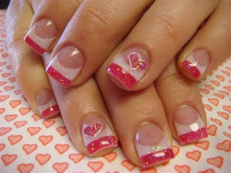 acrylic nails for valentines valentines day nails see more nail designs at http www