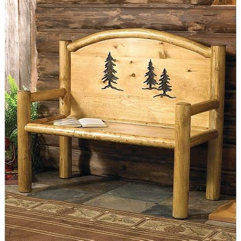 rustic furniture and home decor rustic bench country western cabin log wood living room