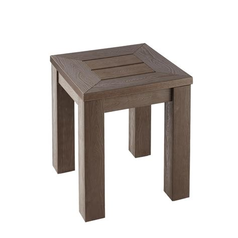 home depot side table hton bay tacana polywood outdoor side table fta30586a
