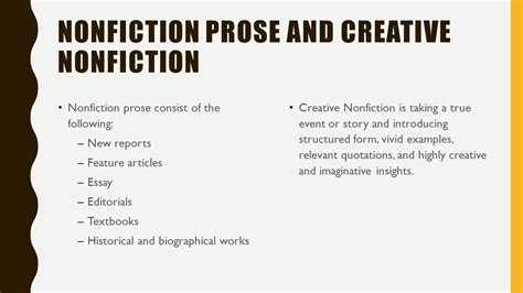 Creative Nonfiction Essay Exles by Genres Of Literature Fiction Ppt