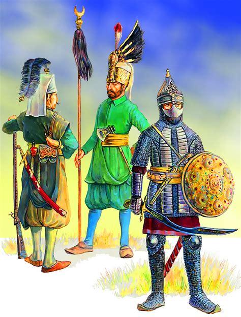 sipahi otomano an ottoman sipahi cavalryman on the right and two