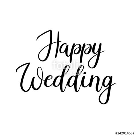 Wedding Lettering by Quot Happy Wedding Lettering Inscription Calligraphy For