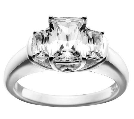 epiphany diamonique emerald cut 3 ring page 1