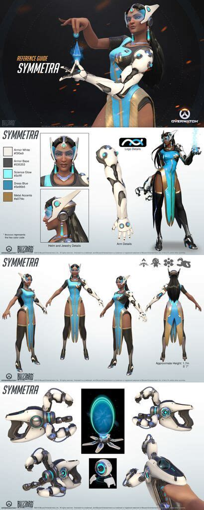 overwatch world guide overwatch symmetra reference guide character design design game and character