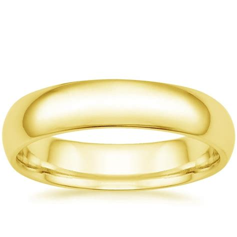 comfort rings 5mm comfort fit wedding ring in 18k yellow gold