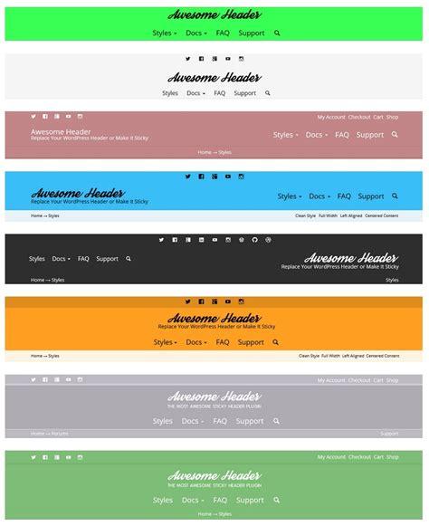 wordpress header layout plugin awesome header by devcanyon codecanyon