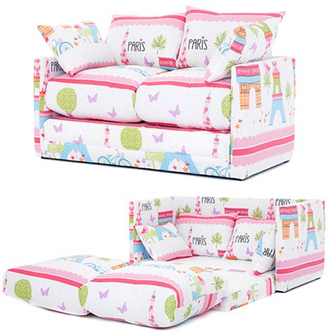 futon kids children s prints bedroom sofa bed fold out boys girls