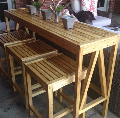 how to an outdoor table simple diy outdoor bar tips to build for your house exterior