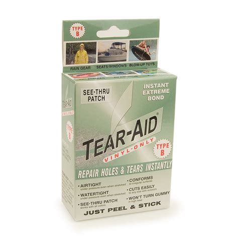 upholstery tear repair tear aid vinyl repair kit type b sailrite