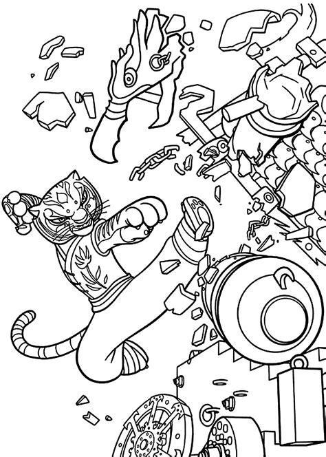 kung fu panda coloring pages to print master tigress from kung fu panda coloring pages for kids