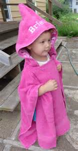 bath towel poncho hooded poncho in pink personalized towel