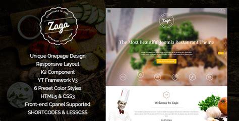 themeforest zaga zaga responsive onepage restaurant template