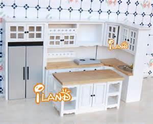 Miniature Dollhouse Kitchen Furniture by Iland White 1 12 Dollhouse Miniature Diy Furniture Wood