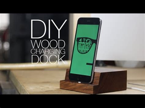 diy charging dock make wooden iphone charging dock diy project