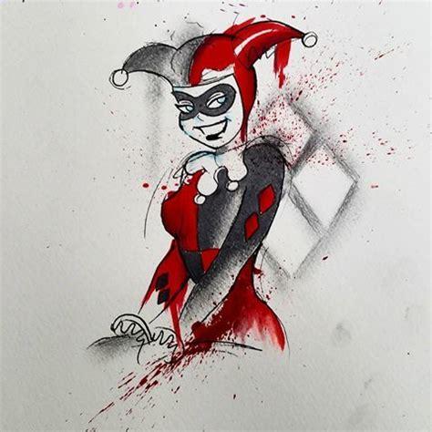 watercolor harley quinn tattoo 143 fantastiche immagini su tattoos harley quinn joker
