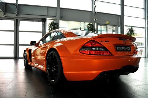 orange mercedes lamborghini orange mercedes sl65 amg black series