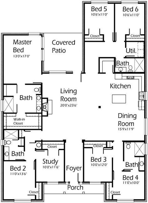 6 bedroom house floor plans best 25 5 bedroom house plans ideas on