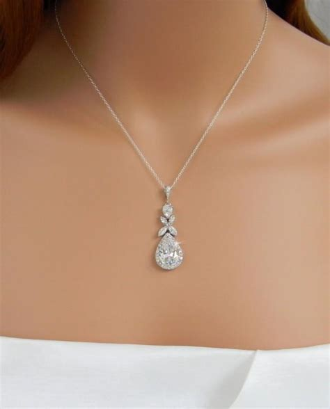 braut collier crystal bridal necklace rose gold wedding jewelry