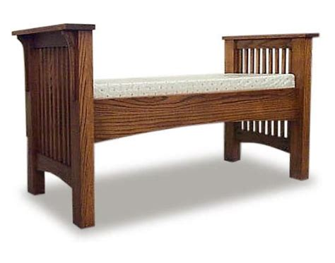 amish mission bench amish bedroom furniture sugar plum oak amish furniture in
