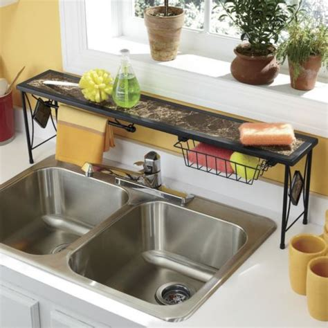 shelf for kitchen sink marbleous the sink shelf from seventh avenue
