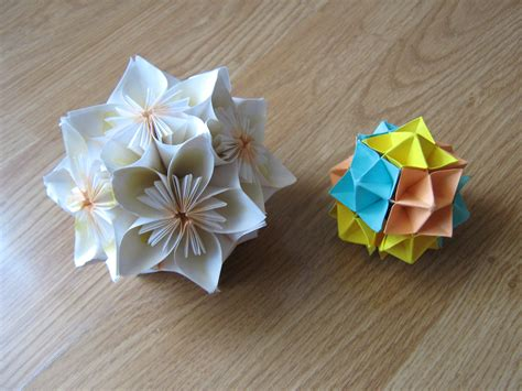 Working Origami - some origami work kusudama spike paper cranes