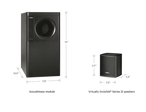 audio centre bose acoustimass 174 3 series v black speakers