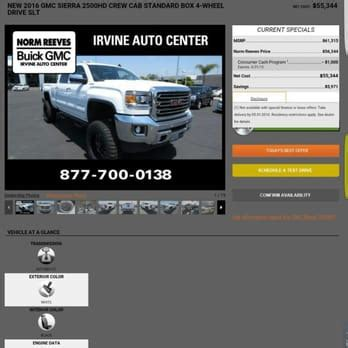 norm reeves buick norm reeves buick gmc irvine auto center 69 reviews